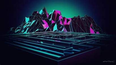 Poly Low Mountain 3d Pink Digital Mountains