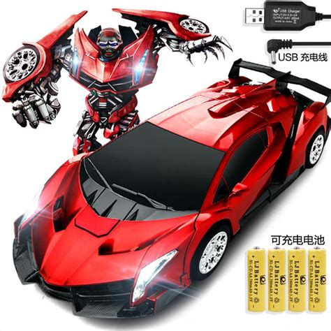 Rc Deformation Robot Car Rechargeable Remote Controlled