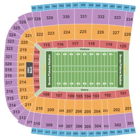 boone pickens stadium   stillwater oklahoma seating charts   schedule