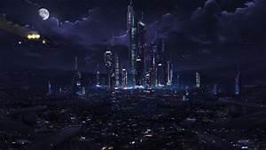 light, clouds, night, world, futuristic, cars, Moon ...