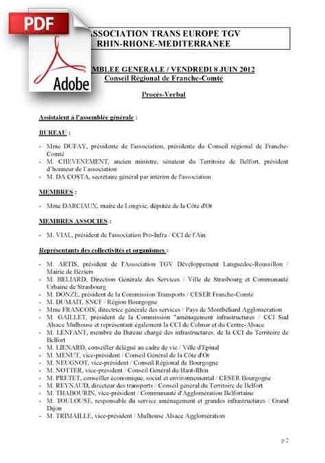association changement de bureau proces verbal de l assemblée generale du 8 juin 2012