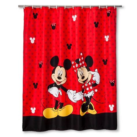 Mickey Mouse Bathroom Accessories Target by Disney 174 Mickey Minnie Shower Curtain Target