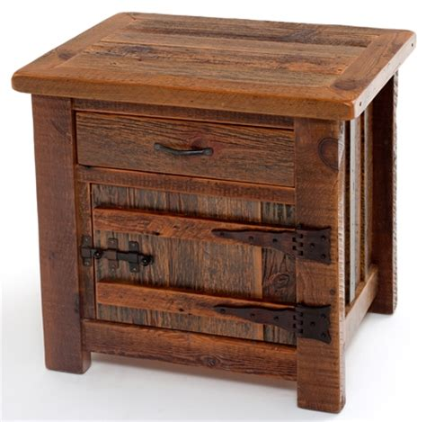 Barnwood End Tables & Nightstands  Rustic Bedroom. Meeks Lumber. Country Kitchen Cabinets. Loft Ideas. Define Duvet. Laundry Room Sink Cabinet. Wall Shelves Ideas. King Headboard. White Bathroom Tile