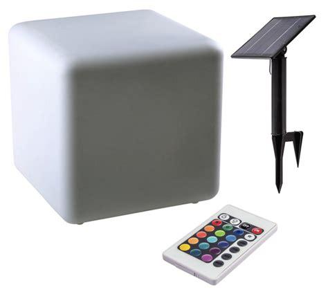 cube lumineux 40 cm cube solaire lumineux 40 cm couleur t 233 l 233 commande le solaire d 233 coration design objetsolaire