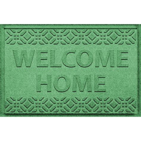 Green Welcome Mat by Aqua Shield Welcome Home Light Green 24 In X 36 In