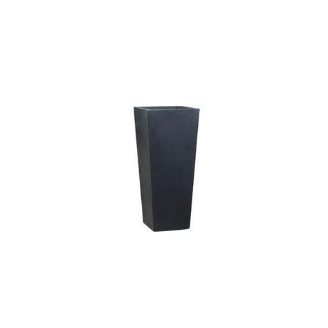 pot haut carr 233 fibre de verre noir c 244 t 233 48 x h 100 cm