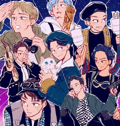 Exo Anime Wallpaper - pin by idk on fanart in 2019 exo exo