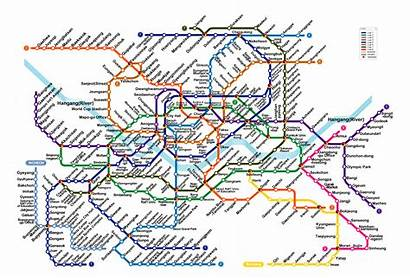 Seoul Map Metro Korea Subway Cerovic Jug