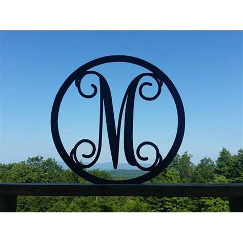 metal monogram letter circle sign cascade manufacturing