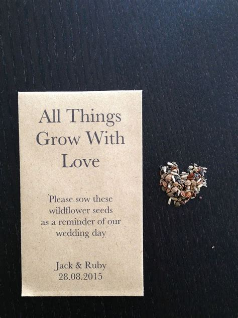 ideas  seed wedding favors  pinterest