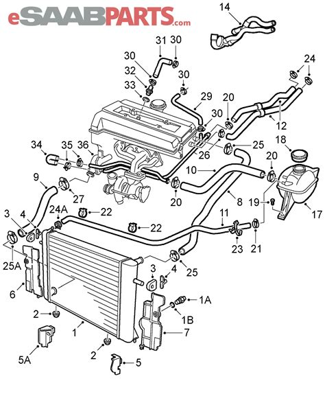 Wireing Diagram For A 1999 Saab 9 3 4 Door by 1999 Saab 9 3 Turbo Engine Wiring Diagram Database