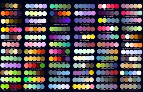 color palete colour pallets arlunit02mtp
