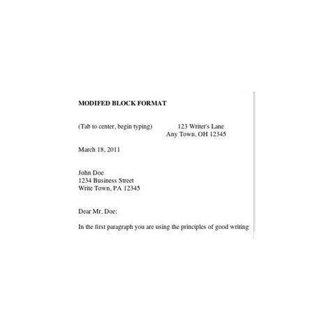 business letters letterhead styles  format