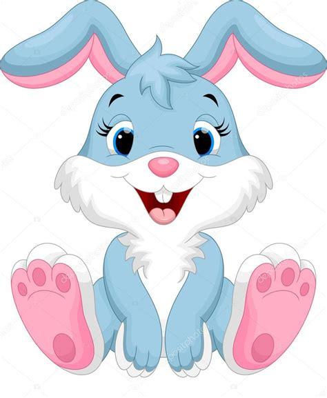 Vector: conejito Caricatura lindo conejo Vector de