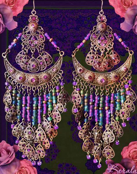 Bohemian Chandelier Earrings by Large Bohemian Chandelier Earrings Indian