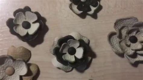 easy leather flowers diy