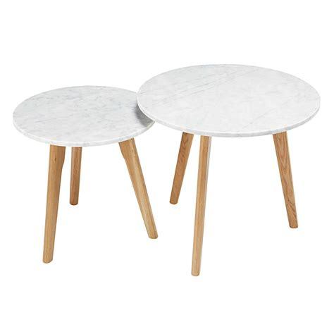tables gigognes en marbre  chene twins maisons du monde