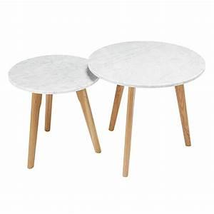 Table Gigogne Maison Du Monde : 2 tables gigognes en marbre et ch ne twins maisons du monde ~ Teatrodelosmanantiales.com Idées de Décoration