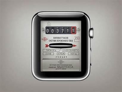 Meter Electricity Watchface Apple Icon Retro Dribbble