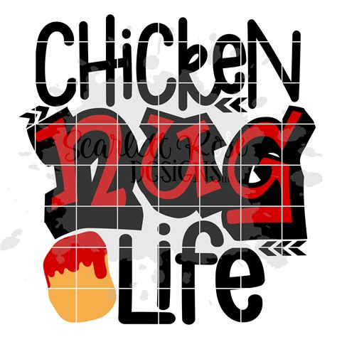 What are svg files for cricut? Chicken Nug Life SVG cut file - Scarlett Rose Designs