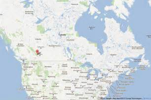 Rocky Mountains Alberta Canada Map