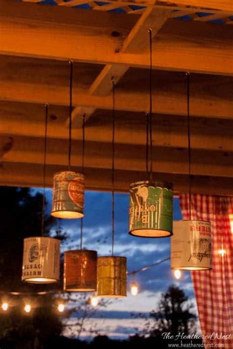 tin  diy outdoor lighting tutorial