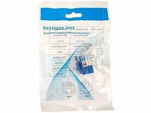 Cat5e Rj45 Modular Keystone Jack  110 Style  Blue