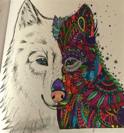 wolf pictures coloring books   magic  pinterest