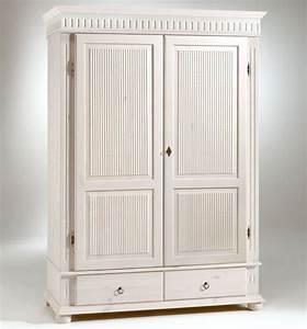 Kleiderschrank 2 Türig Weiß : kleiderschrank 2 t rig xl wei kiefer massiv poarta ~ Indierocktalk.com Haus und Dekorationen