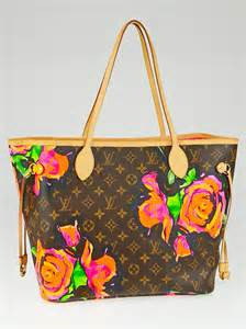 louis vuitton limited edition stephen sprouse monogram roses neverfull mm bag yoogis closet