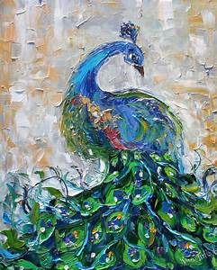 Tarlton Original oil painting Peacock bird by Karensfineart