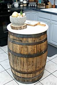 Whiskey Barrel Table - Mom 4 Real