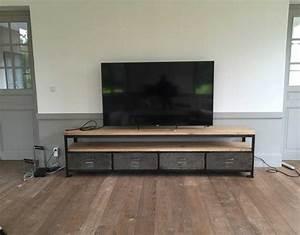 Meuble Tv Industriel : meuble tv industriel xxl cr ation ~ Preciouscoupons.com Idées de Décoration