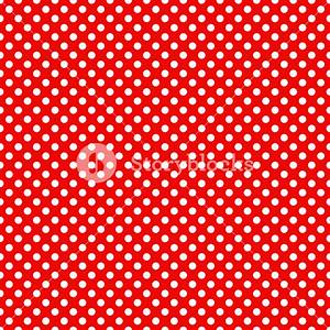 Mickey Mouse Pattern Of White Polka Dots On A Red ...