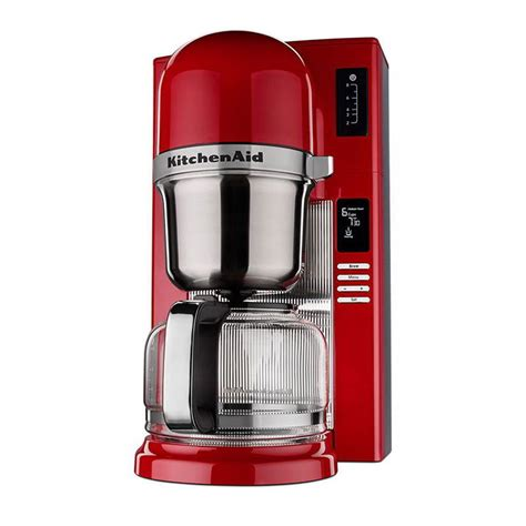 KitchenAid KCM0802ER 8 Cup Pour Over Coffee Maker w/ Carafe   24 hr Programmability, Empire Red