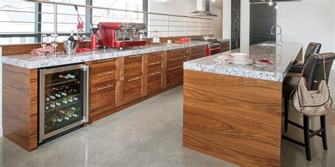 noyer cuisine bois quartz