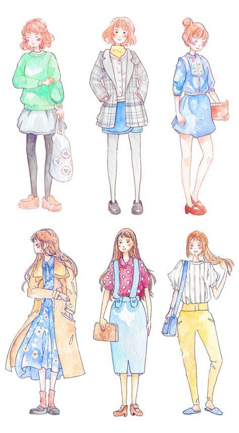 creative girl stickers printable daily fashion