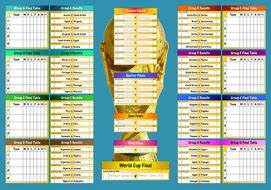 2018 World Cup Wall Chart Teaching Resources