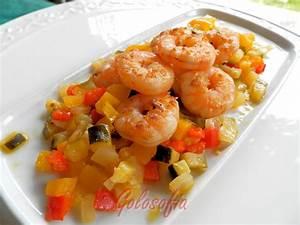mazzancolle con verdure in agrodolce, ricetta di pesce semplice e leggera