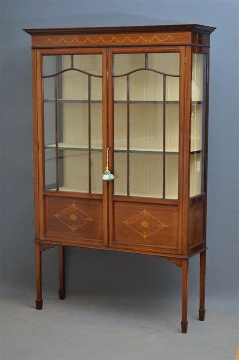 vintage display cabinets edwardian mahogany display cabinet vitrine antiques atlas 3189