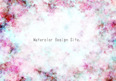 pressed flower 押し花テキスタイル風花柄フレーム 背景 watercolor design site