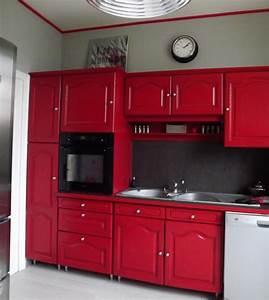 cuisine rouge rustique