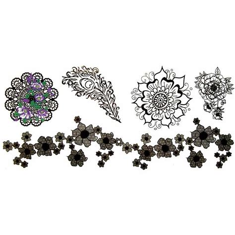 tatouage ephemere manchette fleur