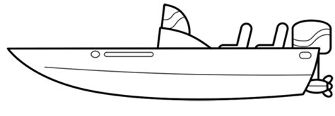 How To Draw A Speedboat Easy by Cartoon Boat Step By Step Drawing Lesson