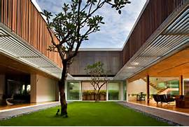 Modern Open Space Natural House Design Modern Home Architecture Singapore 2