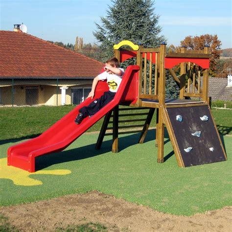 jeu ext 233 rieur enfant tour avec toboggan et mur d escalade