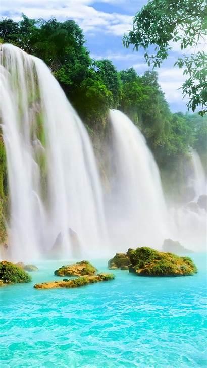 Iphone Summer Plus Waterfalls Wallpapers 6s Nature
