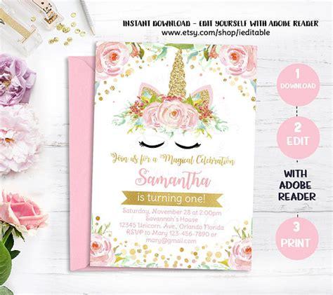 unicorn birthday invitations template unicorn invitation template free songwol 07aa15403f96