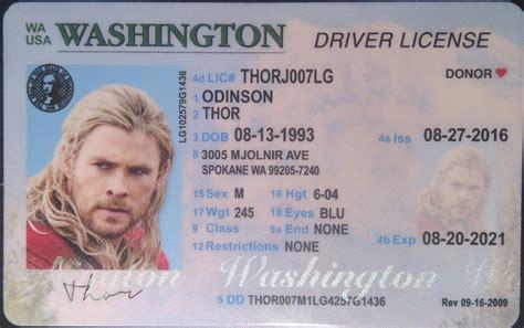 Washington (wa) Drivers License  Id Viking