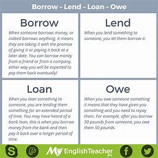 Borrow  Lend  Loan  Owe  Myenglishteachereu Forum  Myenglishteachereu Forum